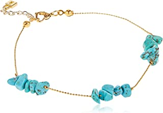 Alwan Women's Long Size Anklet, Turquoise - EE3935TGRQ