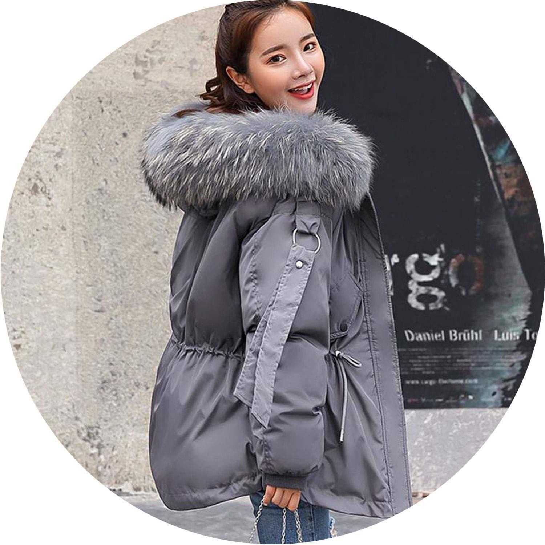 Be fearless 2019 Short Winter Jacket Women Hooded Winter Coat Women Loose Parka Fur Collar Cotton Padded Jacket