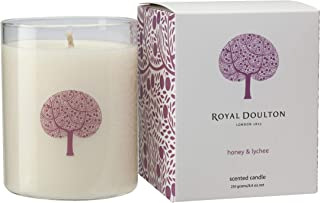 Royal Doulton Scented Soy Natural Candle. 50 Hour Burn. Honey & Lychee 8.8 oz