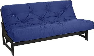 Mozaic Queen Size 12-inch Cotton Twill Futon Mattress, Blue