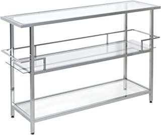 """Studio Designs Home 71005.0 Portico Bar in Chrome with Clear Glass, 52"""","""