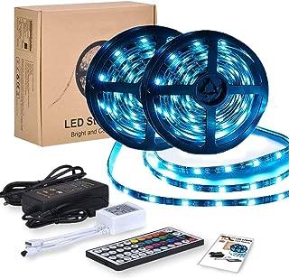 Tiras LED RGB 10m 12V   Kit Tiras de Luces Led Lights - 300 leds 5050 Impermeable IP65   Led Strip Con Mando y Trasformador   Decorativas como Luces Led Multicolor Habitación TV y Exterior