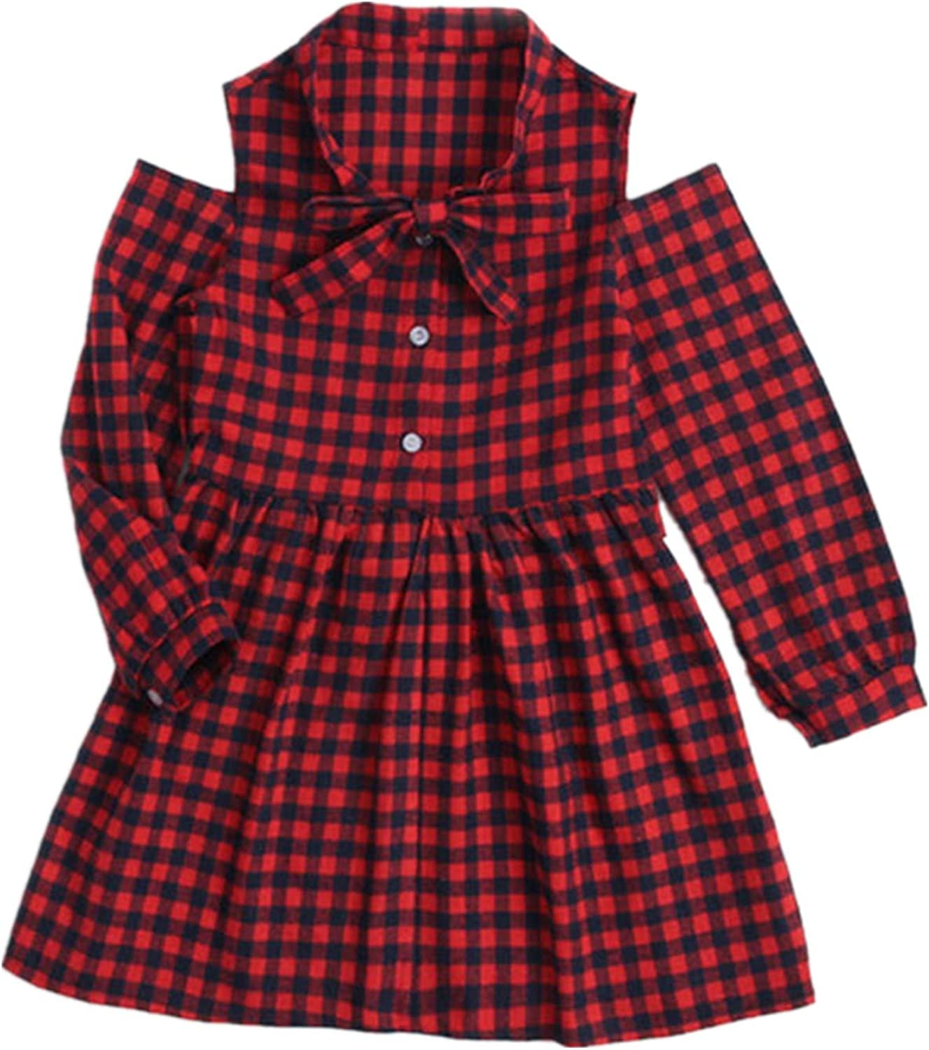 Toddler Challenge the lowest price Baby Girl Red Plaid Ruffle Clothe Indefinitely Christmas Dress Romper