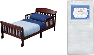 Delta Children Canton Toddler Bed, Cherry + Delta Children Twinkle Galaxy Dual Sided Recycled Fiber Core Toddler Mattress...