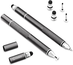 Cellet 3 in 1 Universal Stylus Pen (Precision Clear Disc Pen Capacitive Stylus Pen and Ball Point Pen) Incudes 2 Replacement Tips and 1 Ball Point Ink Pen Replacement Grey 4336682639