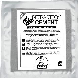 Refractory Cement for High Heat/High Temperature FireBrick & Masonry Joints, Cracks & Repair (1 lb Bag)