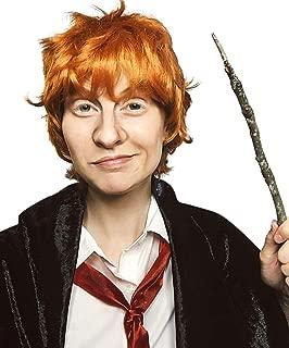 Ron Wizard Wig Adult Kids Short Orange Wig Chucky Cosplay Costume Boys Men Adult