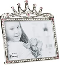 Princess Crown Rhinestone Encrusted 6 x 5.5 inch Zinc Alloy Table Top Picture Frame