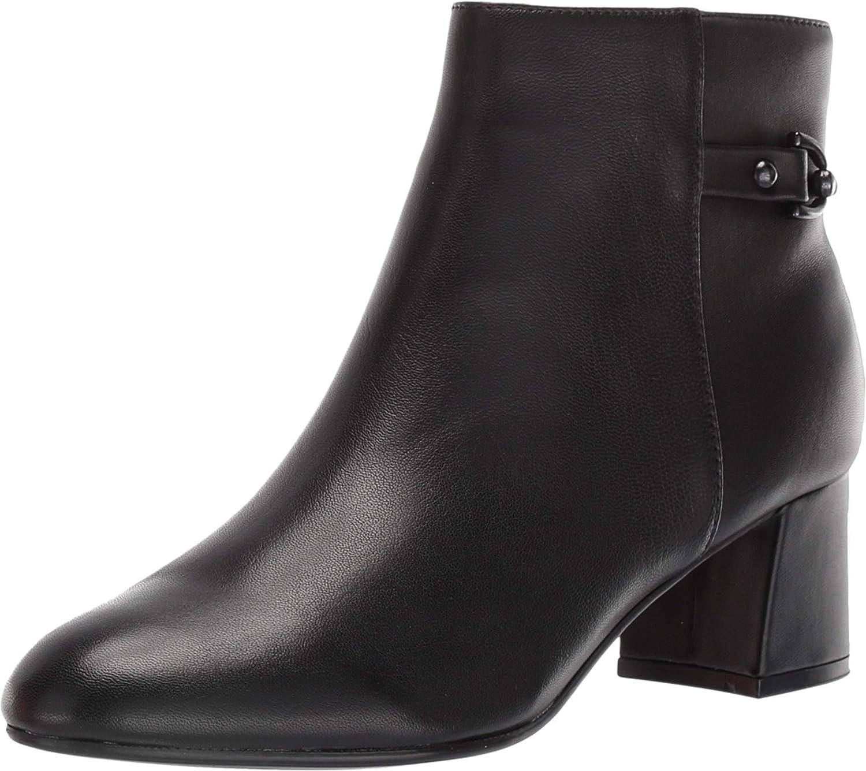 Bandolino Masie Black Leather Ankle Boot