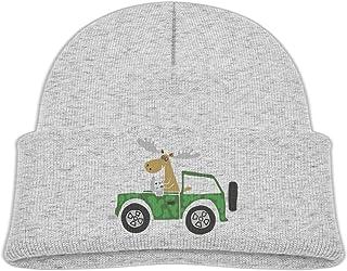 AUCAMP Beanie Hats Wool Knit Caps Cute Moose Truck Boys Girl Baby Soft