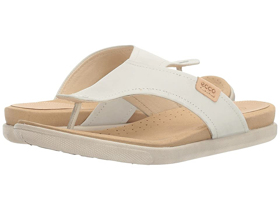 ECCO Damara Thong (Shadow White Cow Nubuck) Women