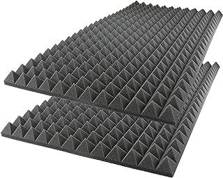 iFoam Acoustic Foam Sound Absorption Pyramid Studio Treatment Wall Panel, 50 cm X 50 cm X 7 cm - (8 Pack)
