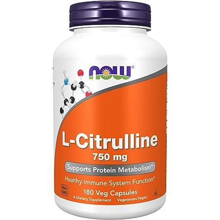 [海外直送品] NOW Foods L-シトルリン 750mg 180粒 L-Citrulline 750mg 180caps