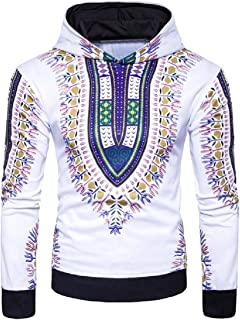 Mogogo Men's African Style Slim Casual Long Sleeve Tracksuit Top