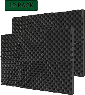 Acoustic Panels Studio Foam Sound Proof Panels Noise Dampening Foam Studio Music Equipment Acoustical Treatments Foam 12 Pcs-12''12''1''-Eggcrate
