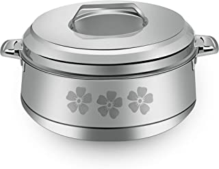 Royalford Classic Belly Stainless Steel Hot Pot 2500 ml, Multi-Colour, RF9717