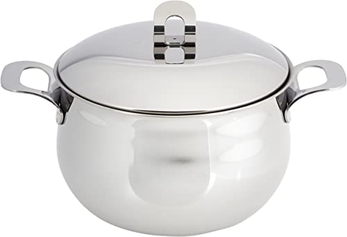 """high quality ExcelSteel discount Made in Italy 7-1/2"""" QT Stainless popular Stockpot W/Sandwiched Base online"""