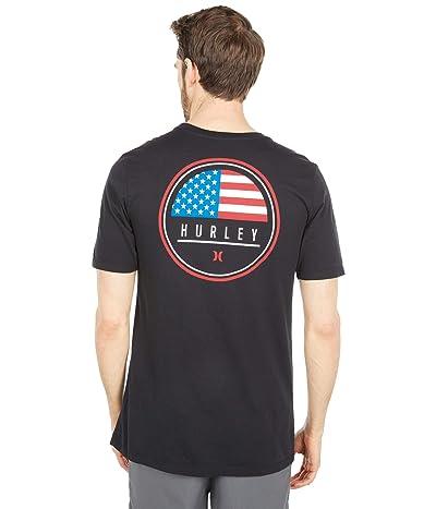 Hurley Destination Flag Short Sleeve Tee (Black/USA) Men