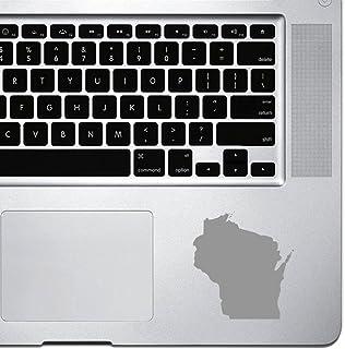 StickAny Palm Series Wisconsin WI ملصق لأجهزة MacBook Pro وChromebook وأجهزة الكمبيوتر المحمول (فضي)