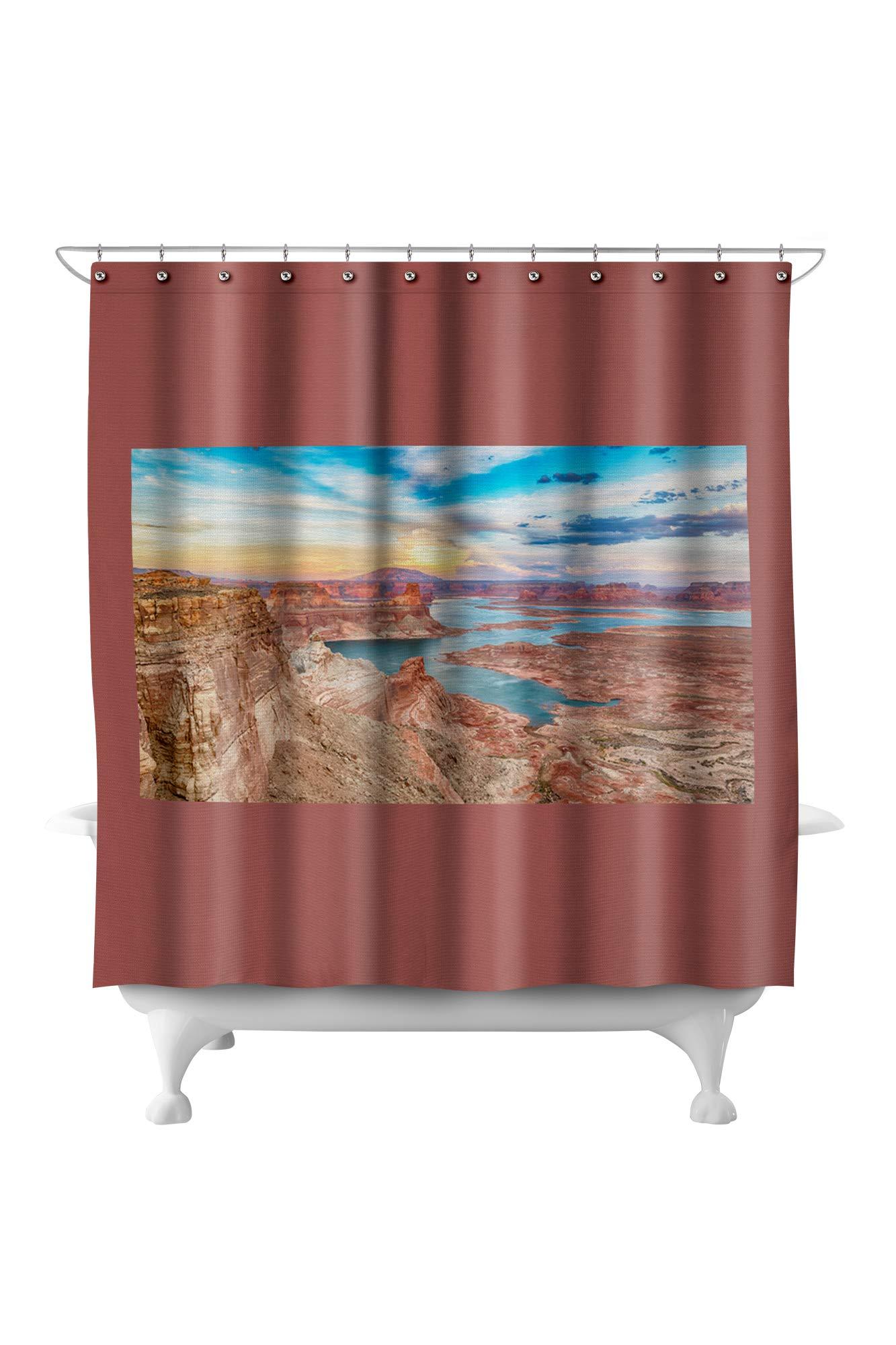 New Nate Berkus Shower Curtain 72 in X 72 in Polyester
