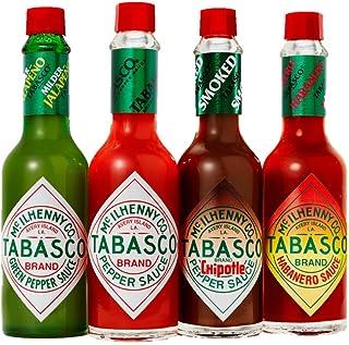 TABASCO 4er Saucen Bundle, 460ml, 4 Glasflaschen Chili-Sauce, 100% natürlich