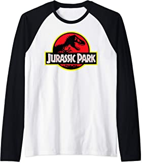 Classic Red And Yellow T-Rex Logo Raglan Baseball Tee