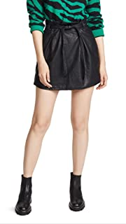 Free People Women's Faux Leather Payton Paperbag Miniskirt