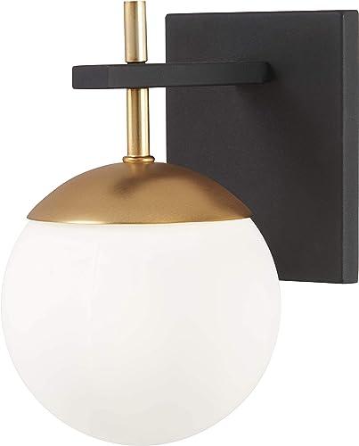 discount George Kovacs online P1350-618 Alluria 1 Light Wall outlet online sale Mount, 75 Watt Total, Weathered Black w/Autumn Gold online sale