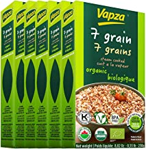 Organic 7 Grain - Case of 6 x 250 Grams - Ready to Eat - Steam Cooked and Vacuum Packed - Shelf Stable - No Refrigeration ...