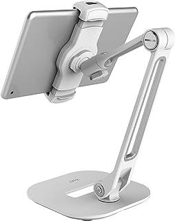 ZenCT タブレットスタンド 携帯スタンド 頑丈な金属製台座 角度調整可能 持ち運びやすい 4〜11インチのスマートフォンとタブレット対応 — 白 WH038