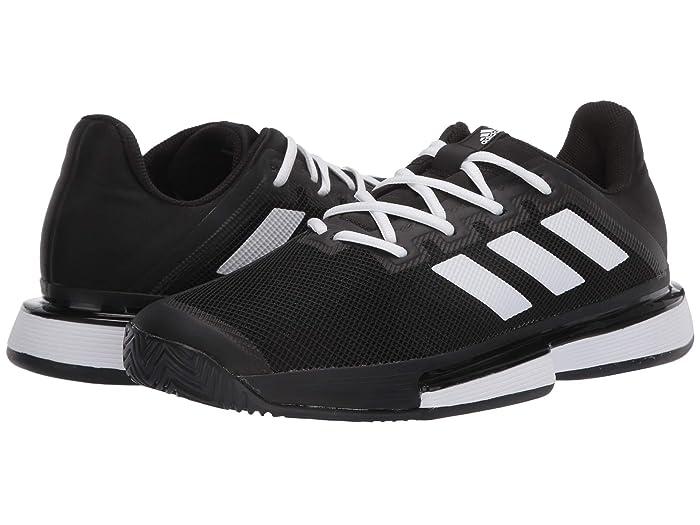adidas  SoleMatch Bounce (Core Black/Footwear White/Core Black) Womens Tennis Shoes