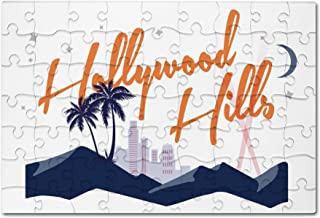 hollywood hills vector