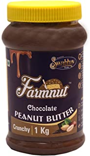 FARMNUT CHOCOLATE PEANUT BUTTER (Crunchy) -1 kg, Made with Roasted Peanuts, Chocolate Flavor, Zero Cholesterol & Transfat,...