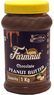 JOEN DIVERSE Farmnut Chocolate Peanut Butter (Crunchy)-1 Kg, Made with Roasted Peanuts, Chocolate Flavor, Zero Cholesterol...