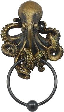 """Ebros Nautical Deep Ocean Creature Octopus Door Knocker 8.5""""Tall Kraken Monster Cthulhu Decorative Resin Door Plaque Knoc"""