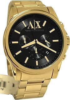 A|X Armani Exchange Mens Gold Chronograph Bracelet Wat