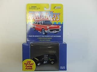 Johnny Lightning ThunderJet 500 - HO Scale - Pull Back Action Nascar Stocker Black