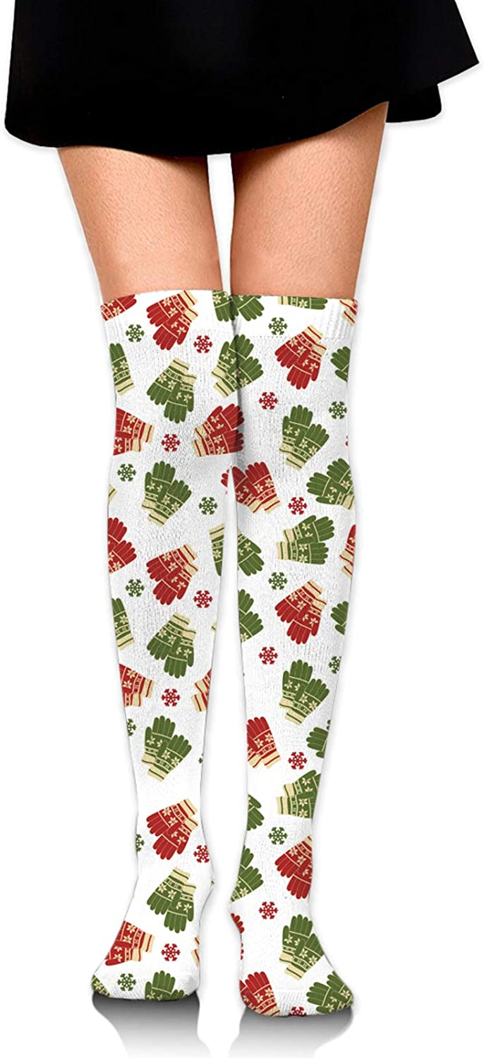 Santa Snowman Fir Tree Winter High Stocking For Women Thigh 60cm Suitable for all seasons, home, office, daily