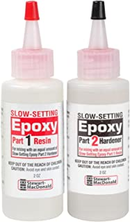 StewMac 2-Part Epoxy, Slow-Setting, Clear