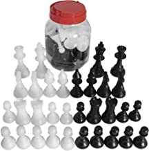 "Standard Staunton Chessmen Bucket, 3.5"" Tall King 