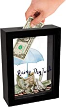 Americanflat Rainy Day Fund Decorative Shadow Box Frame, Glass Sized 5x7 Inches