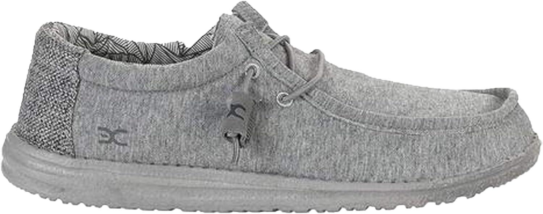 Dude shoes Wally Stretch Fleece shoes   Grey 111363000 Size EU 44 US 11