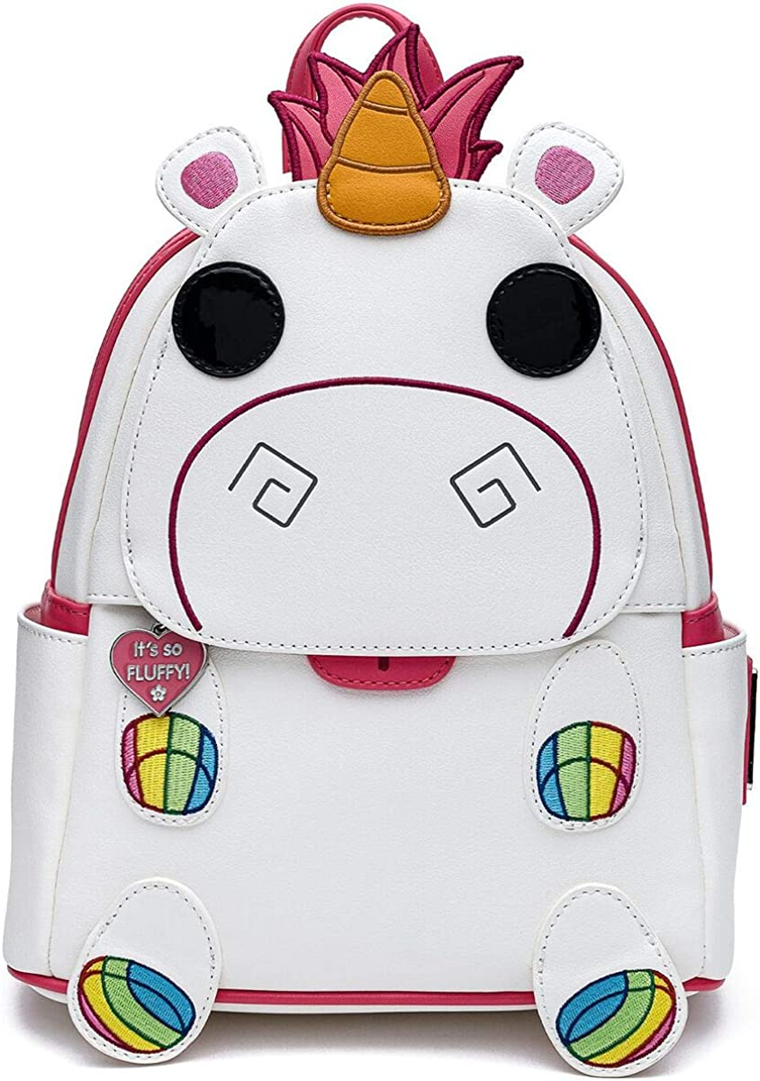 Loungefly Minions POP Fluffy Unicorn Cosplay Womens Double Strap Shoulder Bag Purse