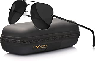 LUENX Aviator Sunglasses for Men Women Polarized - UV 400 Protection with case 60MM
