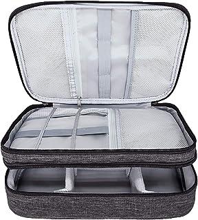 Ruberg Kabelorganiserare väska vattentät kabelväska stor hårddiskväska elektronisk väska dubbelskikt elektrisk organisatör...