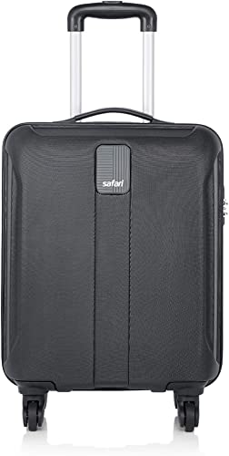 Safari Thorium Sharp Antiscratch 55 Cms Polycarbonate Black Cabin 4 wheels Hard Suitcase(21.65 Inch)