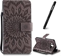 Huawei Mate Case  Huawei Mate Case Wallet Slynmax Sunflower Design Magnetic Flip Book Style Cover Case Premium Wallet CoverCard Slot Strong Magnet  Black Stylus Smoothly Cash Pocket Grey