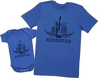 Zarlivia Clothing Rockstar & Zukünftiger Rockstar - um Set zu vervollständigen - Passende Vater Baby Geschenkset - jeweils einzeln verkauft