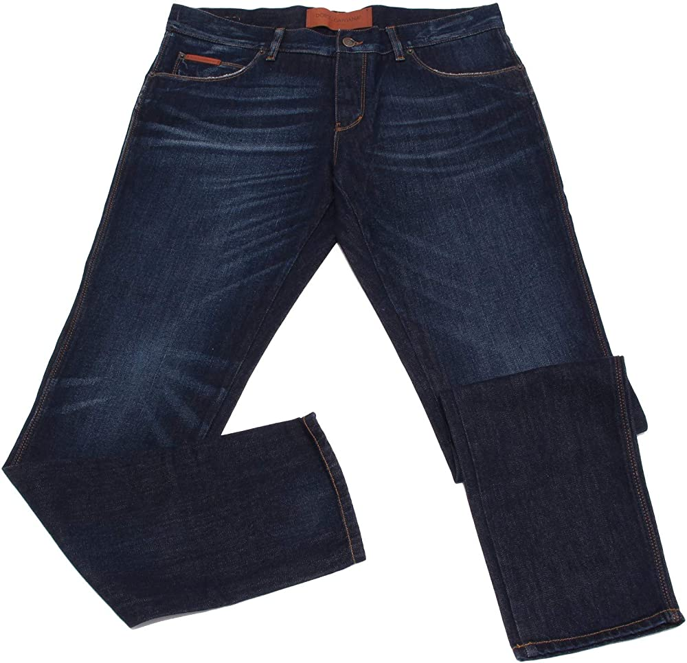 Dolce & gabbana jeans uomo 14 gold blue denim pants man 2427Z