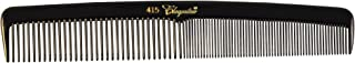 KREST COMBS Cleopatra Series 7 inch Round Back Finger Waver Comb Black (Pack of 12) (Model: 415)